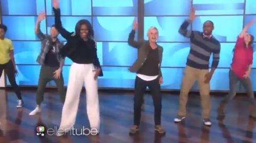 Michelle Obama sorprende con coreografía al ritmo de Bruno Mars