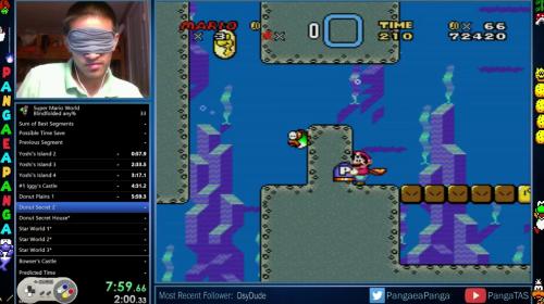Un joven logra superar Súper Mario World con los ojos vendados