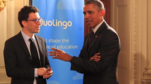 El guatemalteco Luis Von Ahn junto al presidente Barack Obama