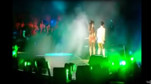El día que Kim Kardashian fue sacada del escenario por Prince
