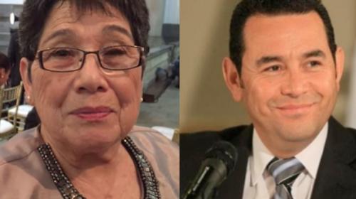 Jimmy Morales fue acompañado por su madre en viaje a Israel