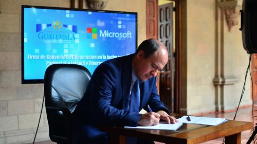 Así es como Microsoft apoyará al Mingob a combatir el crimen