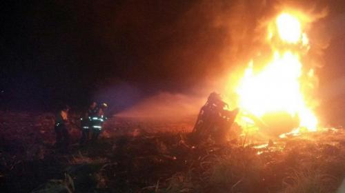 Camión que trasladaba combustible se incendia en Escuintla
