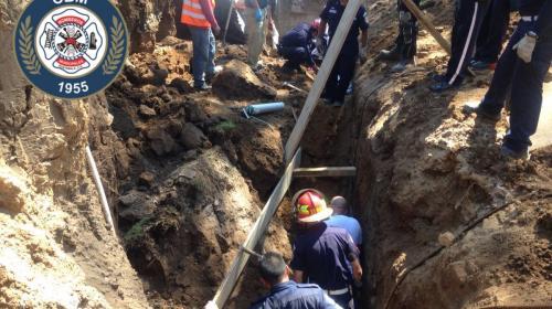Cinco personas quedaron soterradas en ruta a Muxbal