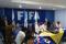 reunión de liga nacional y árbitros foto