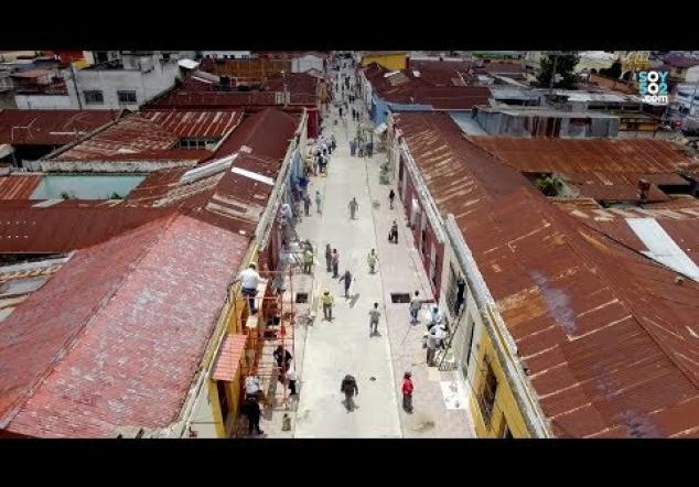 Mixco remódela la calle real del Centro Histórico