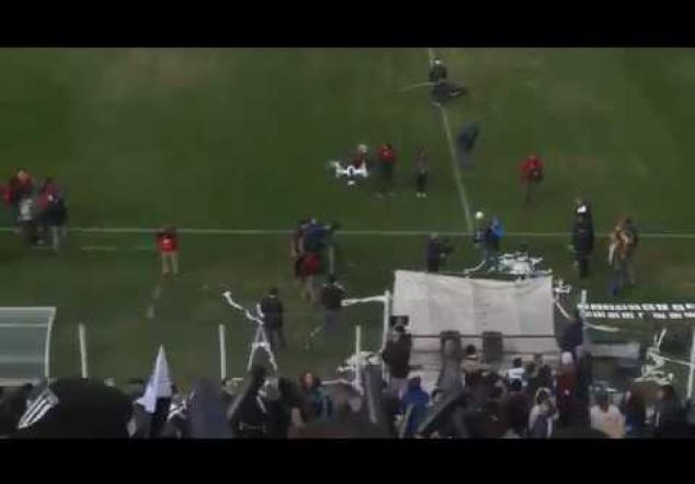 What happens if you use a drone in soccer match in Argentina