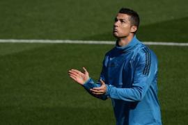 Golazo de Cristiano Ronaldo en los entrenamientos foto
