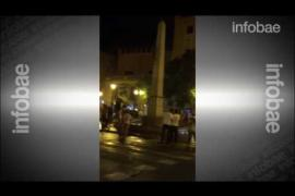 Seguidor del Real Madrid casi se mata al caer de un obelisco