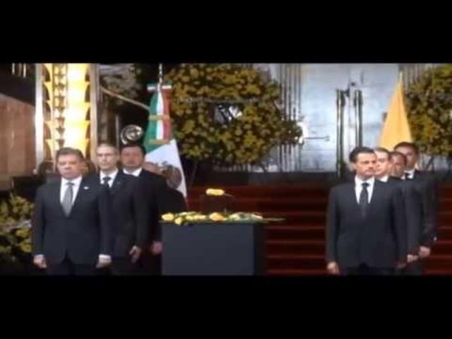 Sentido y solemne adiós a Gabo en el Palacio de Bellas Artes de México