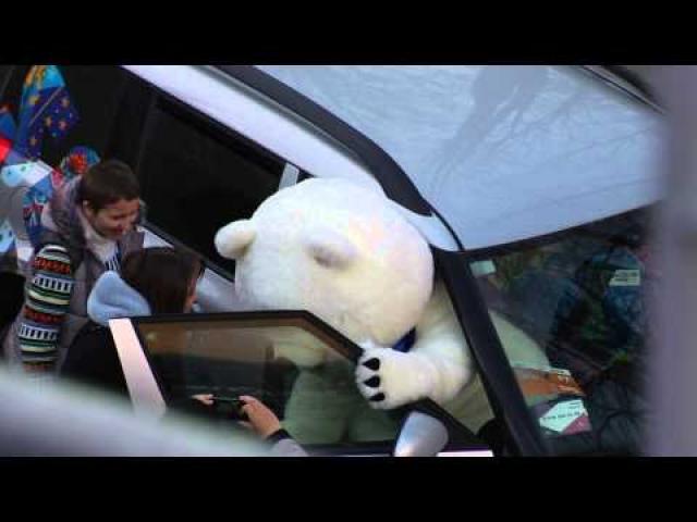 Sochi 2014 Bear is Getting a Big Head
