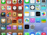Comparación de interfaces entre iOS6 y iOS7