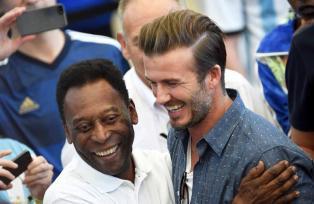 Pelé y Beckham