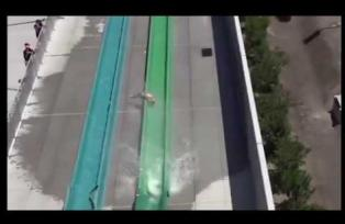10 YEAR OLD THROWN FROM WATERSLIDE ON OPENING DAY