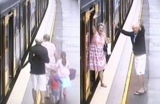 Grandparents' horror as toddler plunges down gap between train and platform moments before it pulls