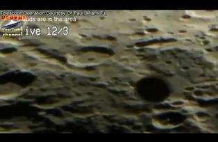 UFO CROSSING THE MOON: UFO CATCH MIAMI OBSERVATORY 03/16/12