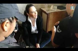 Baldetti se molesta con guardias del Organismo Judicial