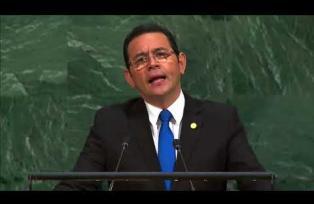 Discurso Jimmy Morales en la ONU