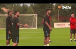"""La """"Discusión"""" entre Messi, Suarez y Neymar"""