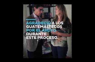 Ana Valdés, esposa de Sperisen, agradeció a los guatemaltecos por el apoyo durante este proceso