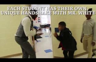 Teacher Barry White Jr Has a Special Handshake With Every Single Student