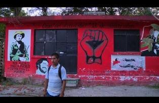 Recorrer la escuela de los 43 desaparecidos