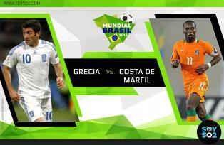 Una victoria para cualquiera de las dos selecciones le dará el boleto a Grecia o Costa de Marfil