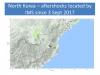 Continúan temblores en Corea del Norte después de prueba nuclear