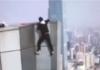 La razón por la que subió el rascacielos el acróbata chino que murió