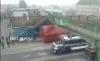 Camión cisterna destruyó una pasarela en Chimaltenango
