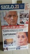 Los rostros de Otto Pérez y Baldetti que aún permanecían en Siglo21