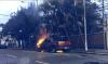 Vehículo se incendia en zona 9