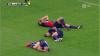 En una jugada insólita, tres jugadores terminan lesionados