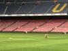 Fue el último en irse del Camp Nou, esto hizo un Iniesta solo