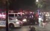 Intenta huir de la policía en su auto y lo hace en círculos